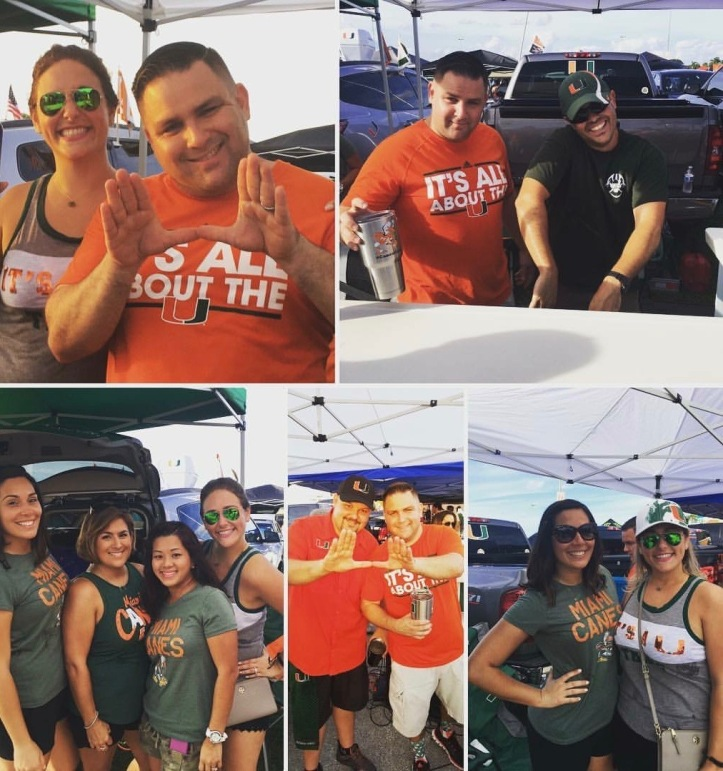tailgate collage